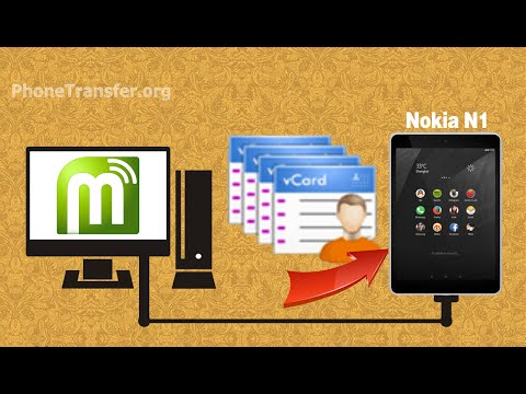 How to Import Contacts from vCard to Nokia N1, Transfer VCF Files to Nokia N1