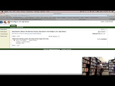 How to find a book with the library catalog