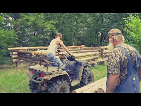 Rustic Log Cabin Build, Setting Wall Logs