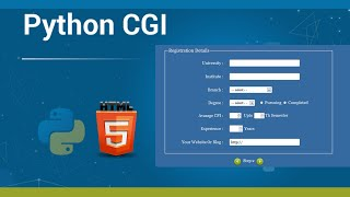 How To Get \u0026 Use Web Html Forms Data With Python Cgi Without Any Web Framework