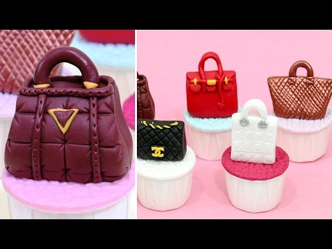 FASHION HANDBAGS CUPCAKES  *Cake Toppers by CakesStepbyStep