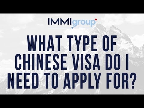 What type of Chinese visa do I need to apply for?