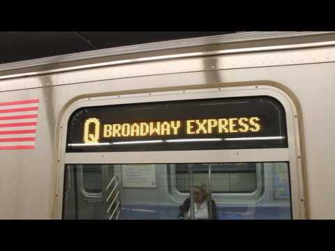 MTA New York City Subway Coney Island Bound Alstom R160 (Q) Train @ 86 Street