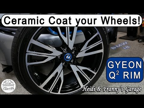 How To Prep and Ceramic Coat your wheels - EASY! DIY GYEON Q2 RIM & BMW i8