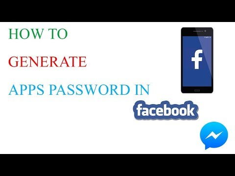 How to generate apps password in facebook   Messenger   Tips and tricks