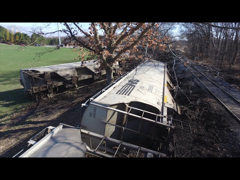 Great Lakes Central RR Train Wreck at Howell