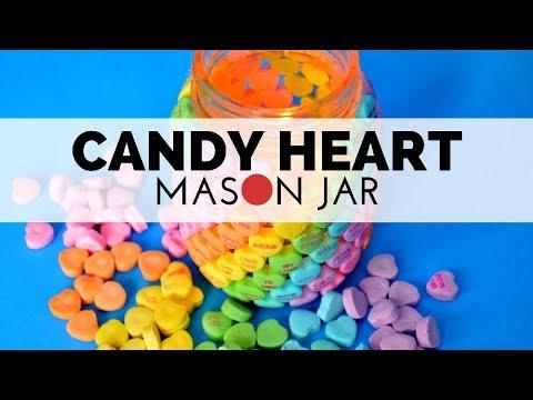 How to Make a Candy Heart Mason Jar