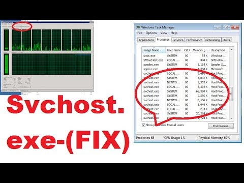 Fix Svchost.exe Using High Memory On Windows 7, 8,8.1,10, xp (100%) Working