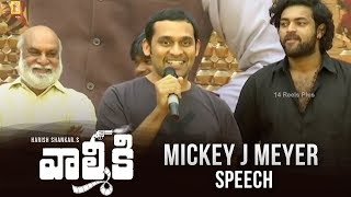 Mickey J Meyer Speech @ Valmiki - Velluvachi Godaramma Song Launch Event | 14 Reels Plus