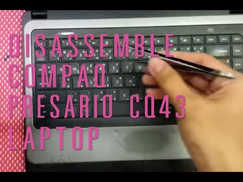 How to take apart/disassemble Compaq presario CQ43 laptop