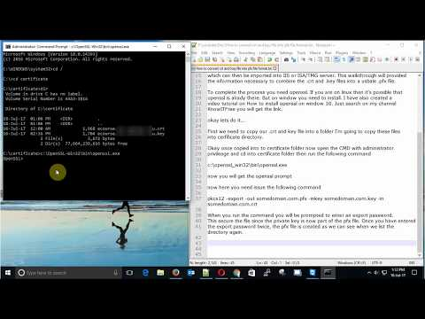 Steps by Steps How to convert ssl certificate crt and key file into pfx file format
