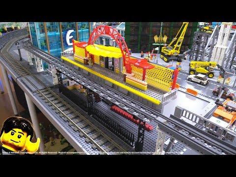 Elevated LEGO train station MOC progress update #4