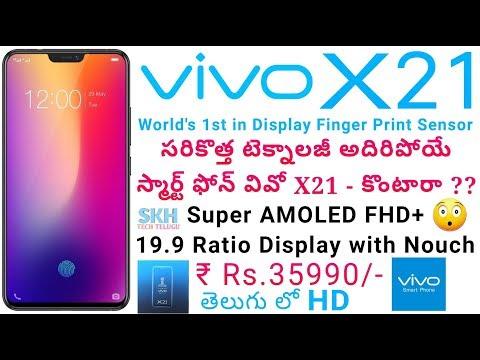 VIVO X21 World's 1st in Display Fingerprint in Telugu | Specs | ProsCons | My Opinions