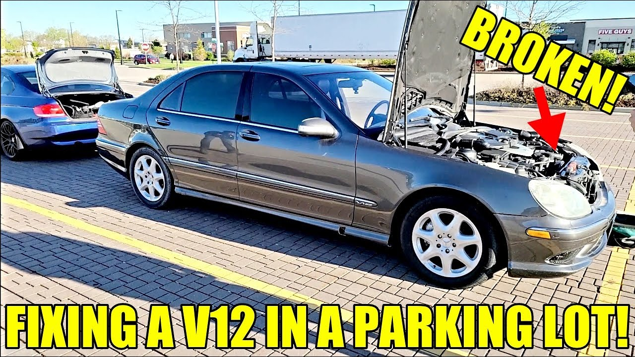 I Rescued An Abandoned Twin Turbo V12 Mercedes S600! Paid $3,000 & DIY Fixed With Used Parts!