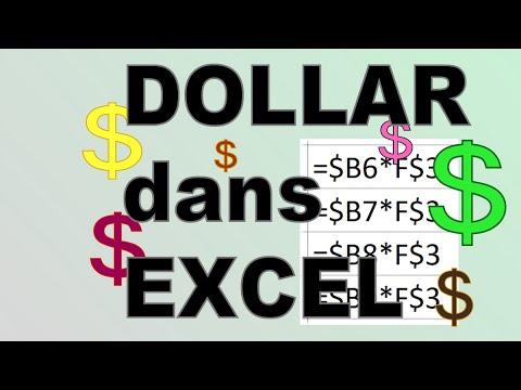 Référence absolue dans les cellules d'Excel