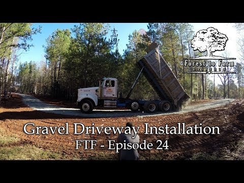 Grading & Installing a Gravel Driveway