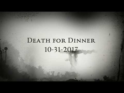 The Johnson's Halloween Invite DEATH FOR DINNER