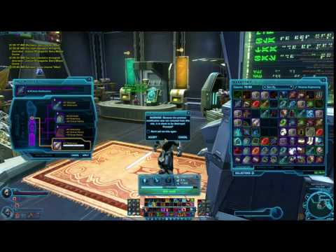How does it look like when change your lightsaber crystal? SWTOR (Star Wars The Old Republic)