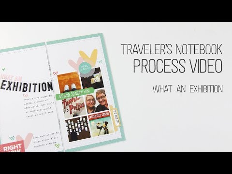 Traveler's Notebook Layout Process – What an exhibition