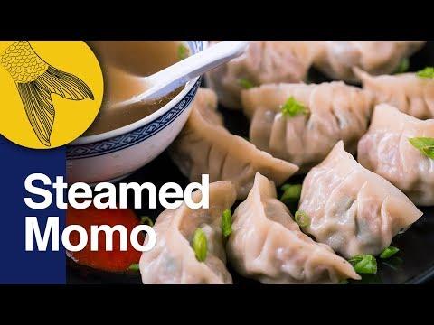 Momo Recipe: Steamed Pork Momo: Easy Pork Dumplings | Momo Recipe in Bengali