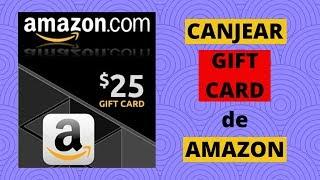 Como CANJEAR GIFT CARD de AMAZON 💲 Aplica TARJETA de REGALO en AMAZON