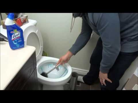 How To Clean A Toilet (Tutorial For Cleaning A Bathroom)