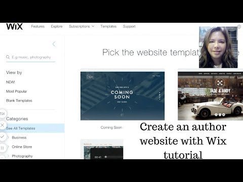 Tutorial to create a professional website with Wix for authors and online businesses