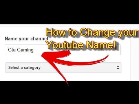 How to Change your YouTube Name (2016)!