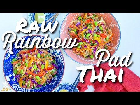 Raw Rainbow Pad Thai (Vegan, Plant-based)