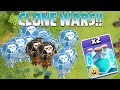 Clash Of Clans New Clone Spell Clone Wars Testing On Lots Of