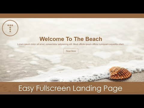 Easy Fullscreen Landing Page With HTML & CSS