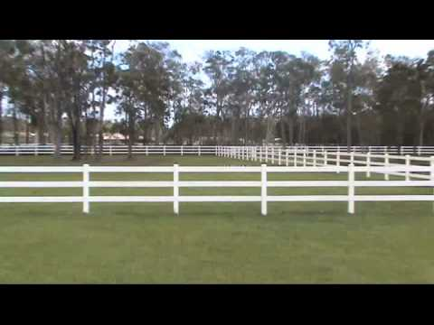 Three Rail PVC Horse Fence