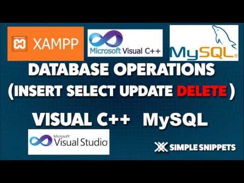 Delete Database Operation in Visual C++ and MySQL Database