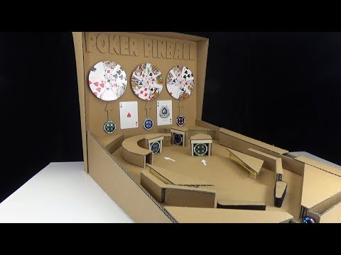 How to make a cardboard pinball - 3 balls for the best poker game