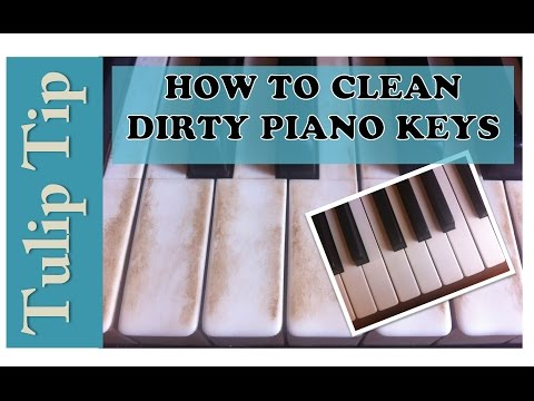How to Quickly Clean Dirty Piano Keys