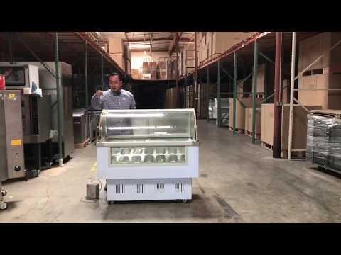 14 pan Gelatin Ice Cream Dipping Cabinet Freezer Display Cases Display chest freezer