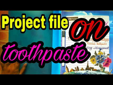 Business Studies Class 12 CBSE project on Marketing Management of Toothpaste |