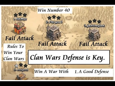 Clan Wars Win 40 & Tips on how to win CW Click Show More