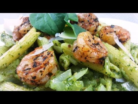 Cajun Shrimp and Arugula Pesto with Penne Recipe | August Cooking | Pasta Recipe | How to Cook