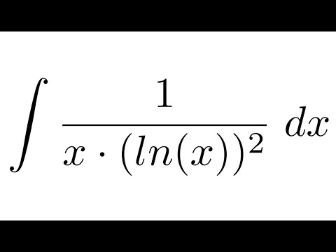Integral of 1/(x*ln(x)^2) (substitution)