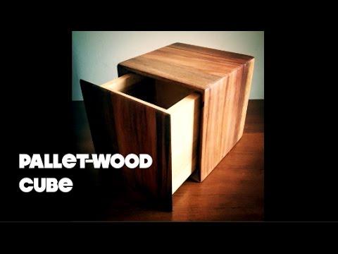 Pallet-Wood Cube Box