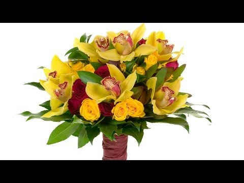 Sunshine Yellow Orchid Hand-Tied Bridal Bouquet
