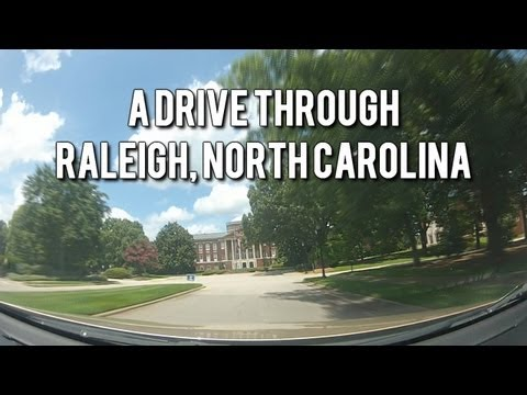LET'S DRIVE! Scenic Drive Through Raleigh, North Carolina - Road Trip Time Lapse