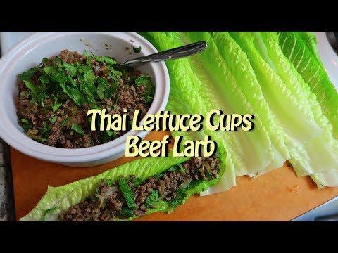 Quick Beef Larb Thai Lettuce Cups Easy Recipe Eps 61