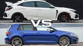 2018 Honda Civic Type R vs 2018 Volkswagen Golf R