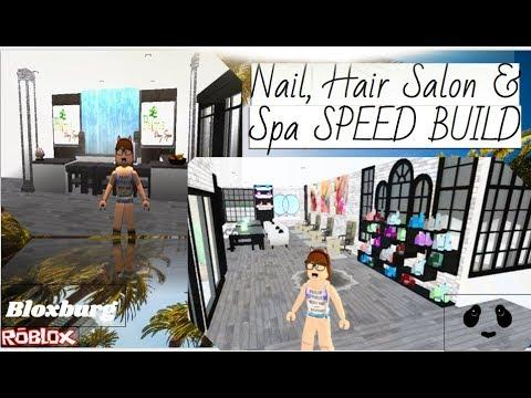 Nail, Hair Salon & Spa: ROBLOX | Welcome to Bloxburg - Speed build