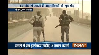 15 hrs on, encounter between security forces and militants underway in Srinagar