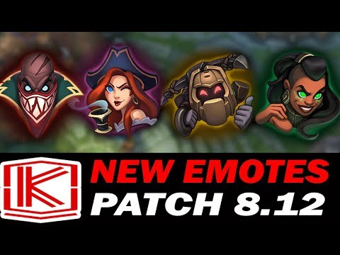 *NEW* EMOTES PATCH 8.12 - League of Legends 2018