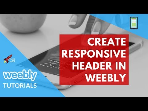 How to Create a Responsive Header Image in Weebly | Weebly Tutorials