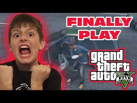 Kid Temper Tantrum plays GTA 5 for the first time!